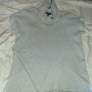 Short Sleeve Cowl neck Woven Sweater with Splits